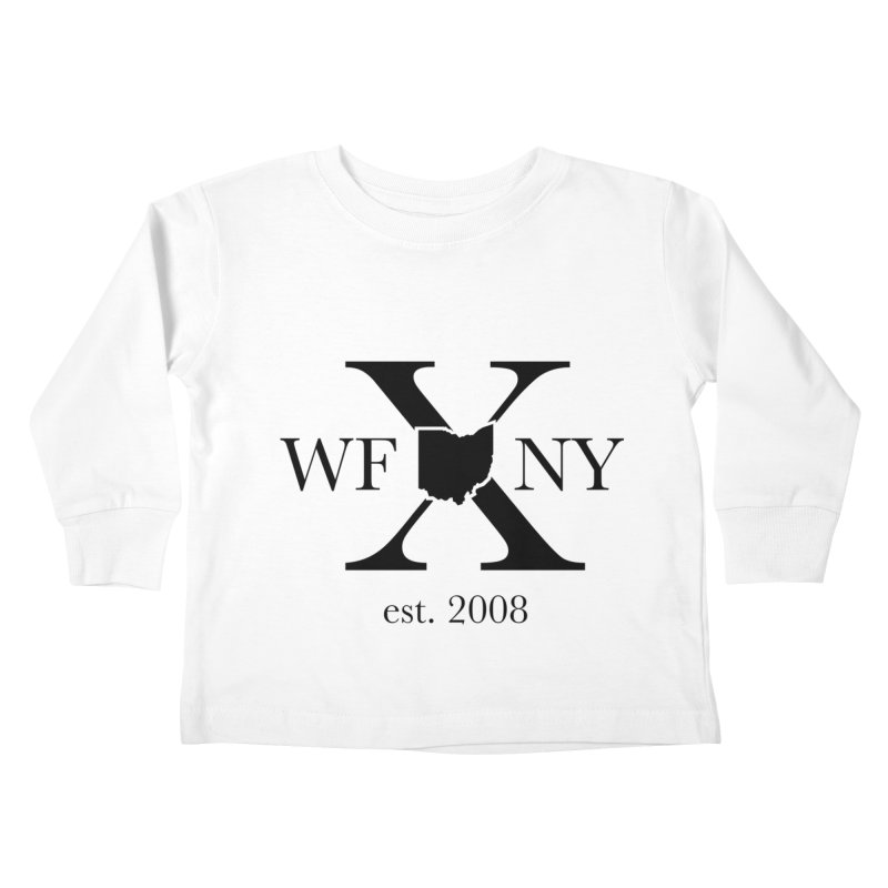 WFNYX Logo Black Kids Toddler Longsleeve T-Shirt by WFNY - WaitingForNextYear