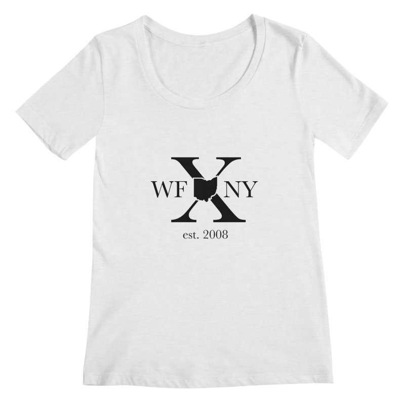 WFNYX Logo Black Women's Regular Scoop Neck by WFNY - WaitingForNextYear