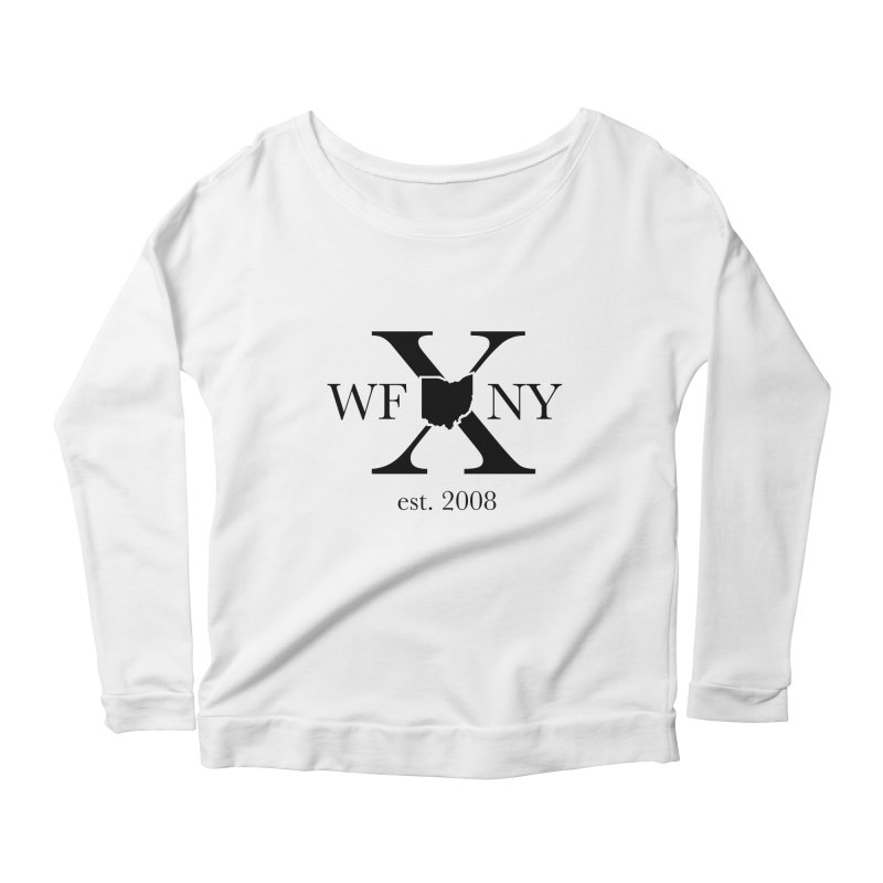 WFNYX Logo Black Women's Scoop Neck Longsleeve T-Shirt by WFNY - WaitingForNextYear