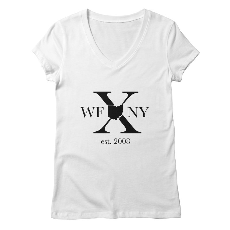 WFNYX Logo Black Women's Regular V-Neck by WFNY - WaitingForNextYear
