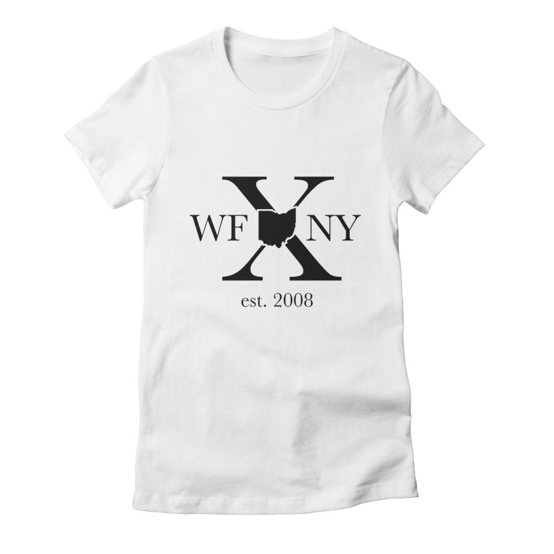 WFNYX Logo Black Women's Fitted T-Shirt by WFNY - WaitingForNextYear