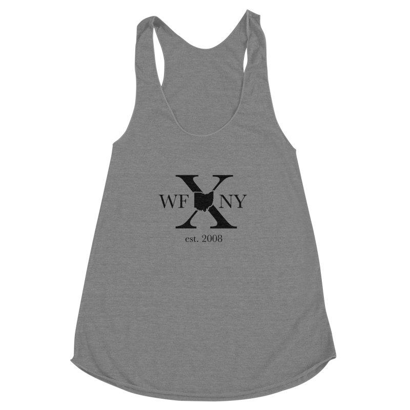 WFNYX Logo Black Women's Racerback Triblend Tank by WFNY - WaitingForNextYear
