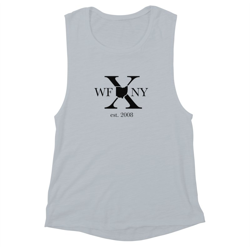 WFNYX Logo Black Women's Muscle Tank by WFNY - WaitingForNextYear