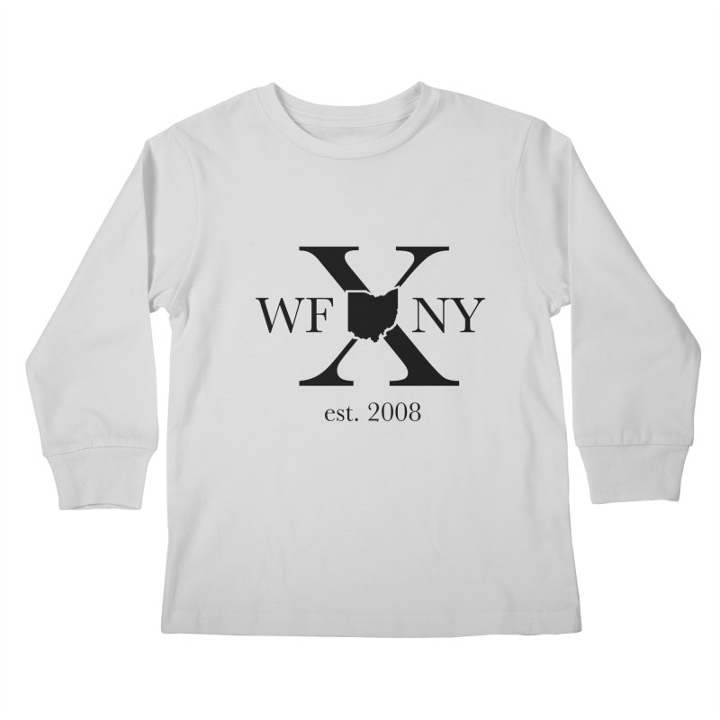 WFNYX Logo Black Kids Longsleeve T-Shirt by WFNY - WaitingForNextYear