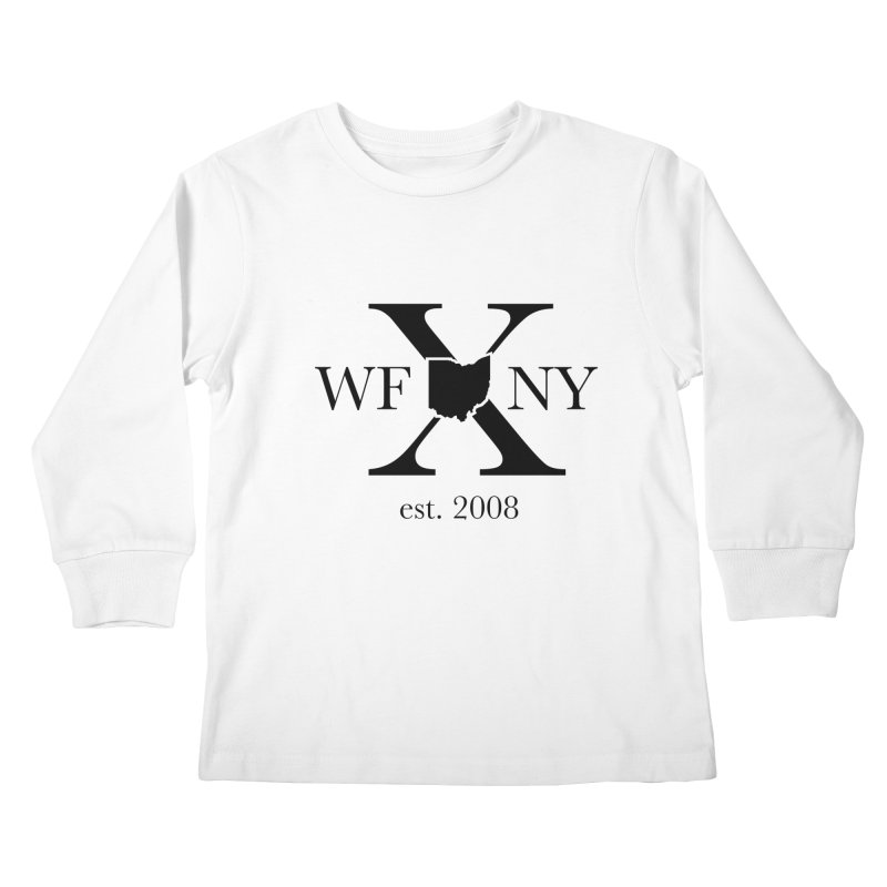 WFNYX Logo Black Kids Longsleeve T-Shirt by WFNY - WaitingForNextYear
