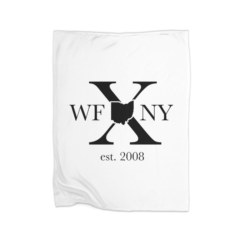 WFNYX Logo Black Home Blanket by WFNY - WaitingForNextYear