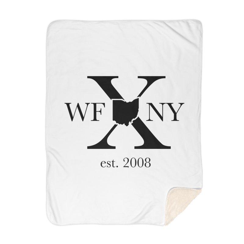 WFNYX Logo Black Home Blanket by WFNY - WaitingForNextYear