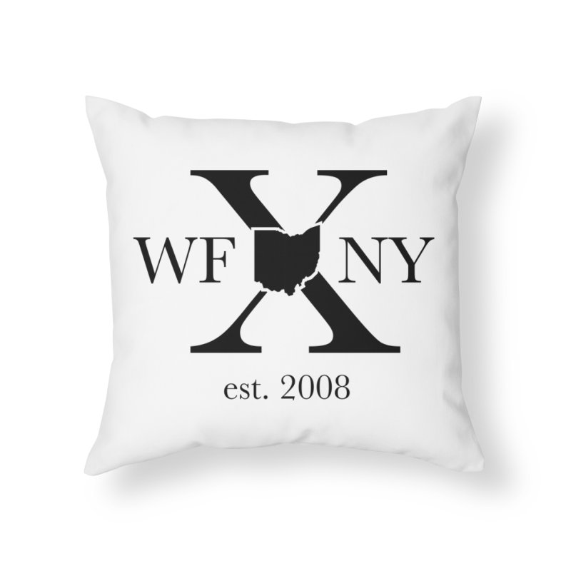 WFNYX Logo Black Home Throw Pillow by WFNY - WaitingForNextYear