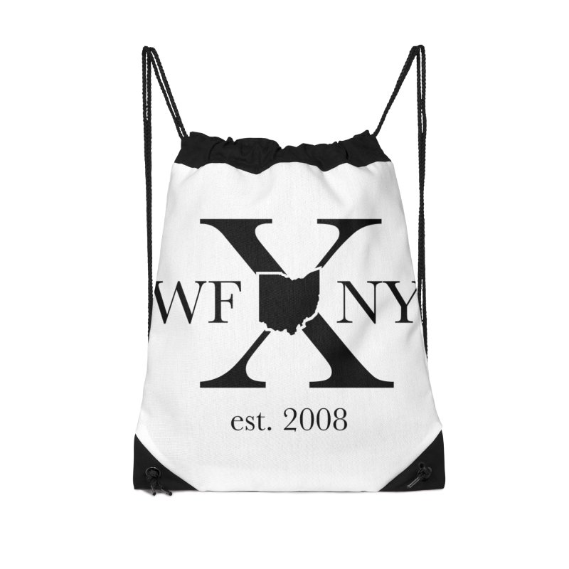 WFNYX Logo Black Accessories Drawstring Bag Bag by WFNY - WaitingForNextYear