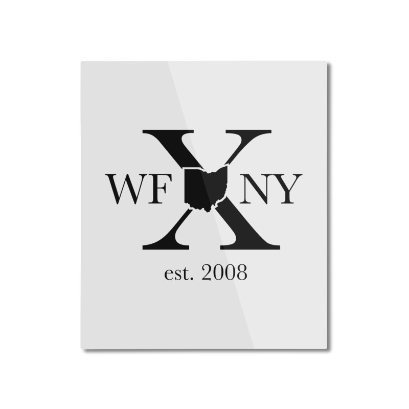 WFNYX Logo Black Home Mounted Aluminum Print by WFNY - WaitingForNextYear