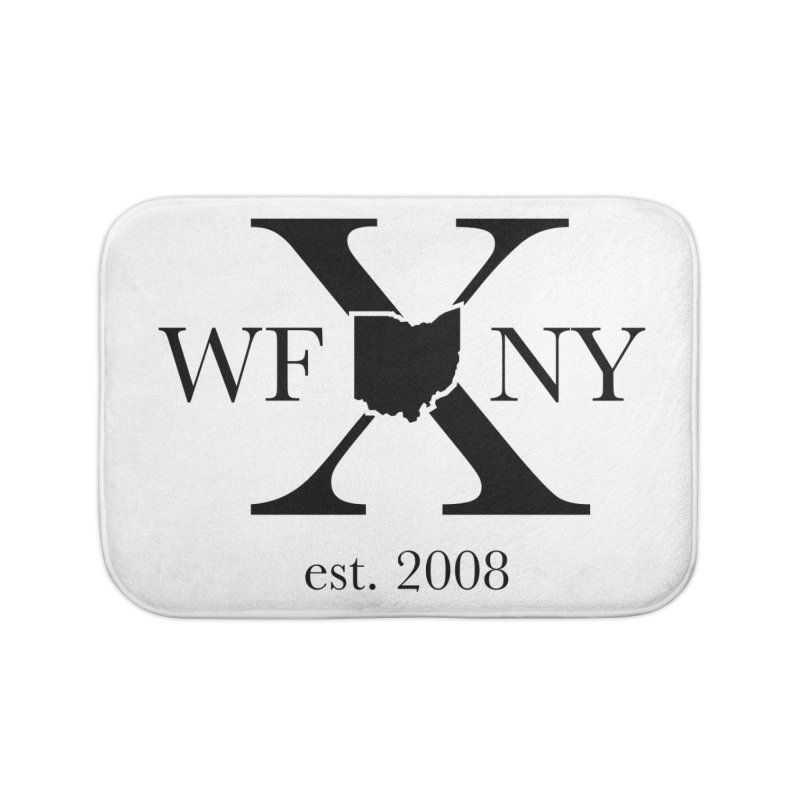 WFNYX Logo Black Home Bath Mat by WFNY - WaitingForNextYear