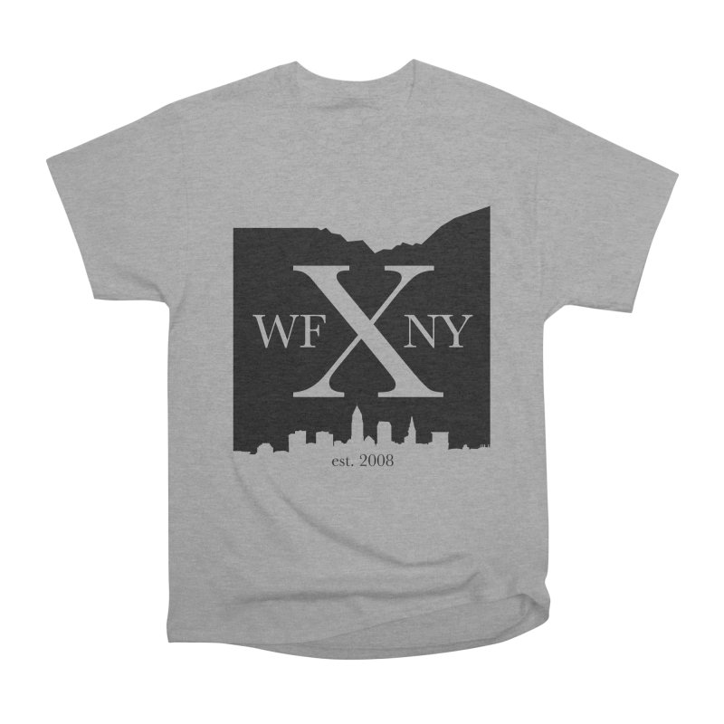 WFNYX Cleveland Skyline Men's Heavyweight T-Shirt by WFNY - WaitingForNextYear