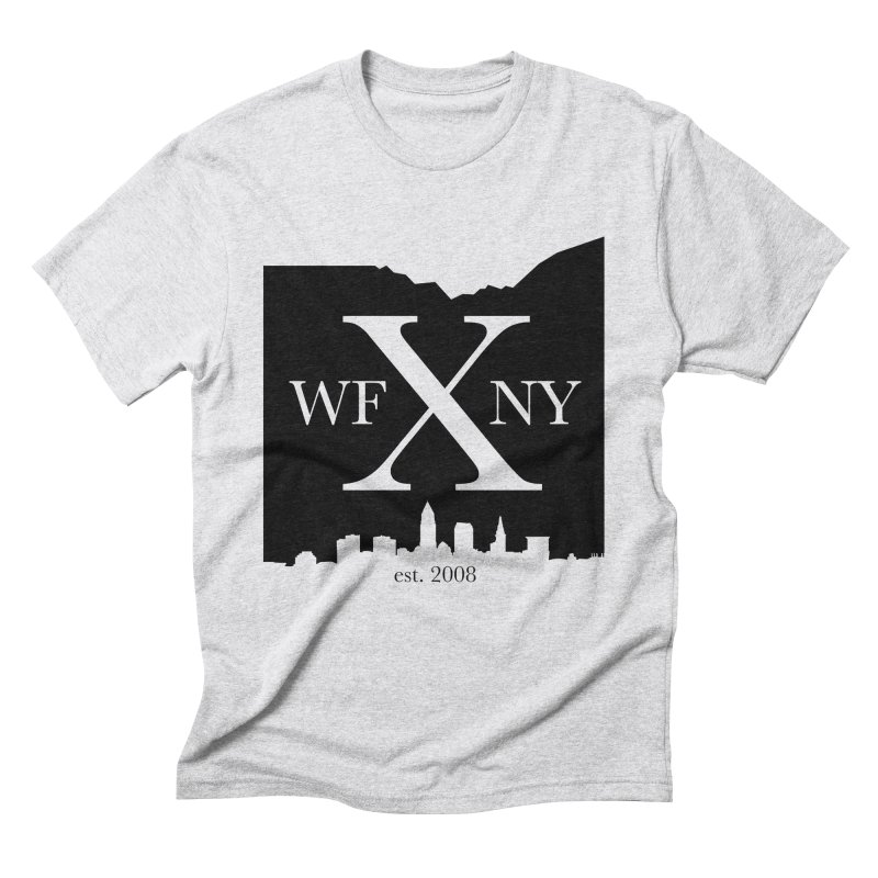 WFNYX Cleveland Skyline Men's Triblend T-Shirt by WFNY - WaitingForNextYear