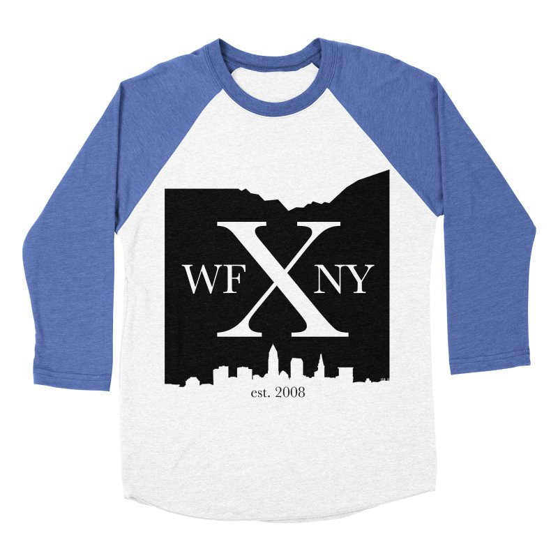 WFNYX Cleveland Skyline Women's Baseball Triblend Longsleeve T-Shirt by WFNY - WaitingForNextYear