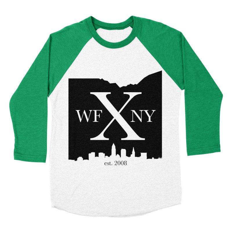 WFNYX Cleveland Skyline Women's Baseball Triblend T-Shirt by WFNY - WaitingForNextYear