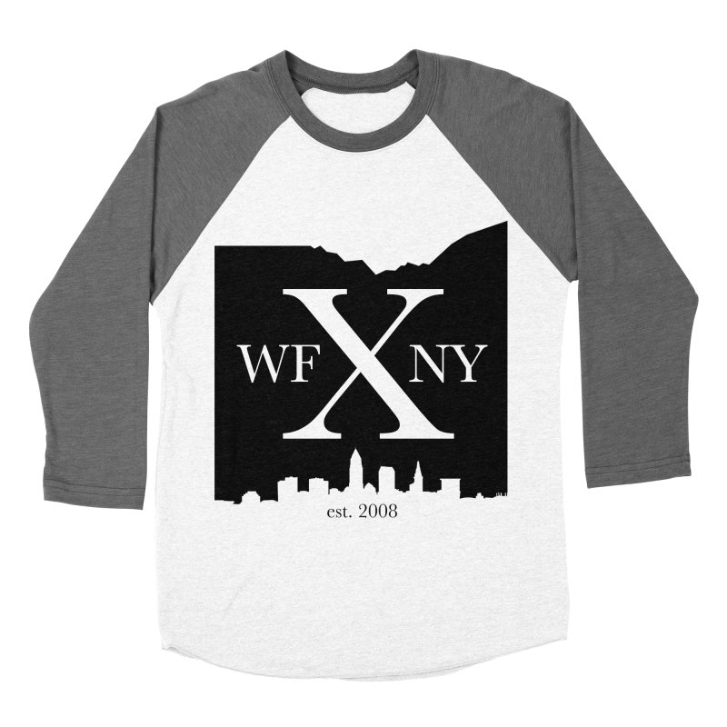 WFNYX Cleveland Skyline Men's Baseball Triblend Longsleeve T-Shirt by WFNY - WaitingForNextYear