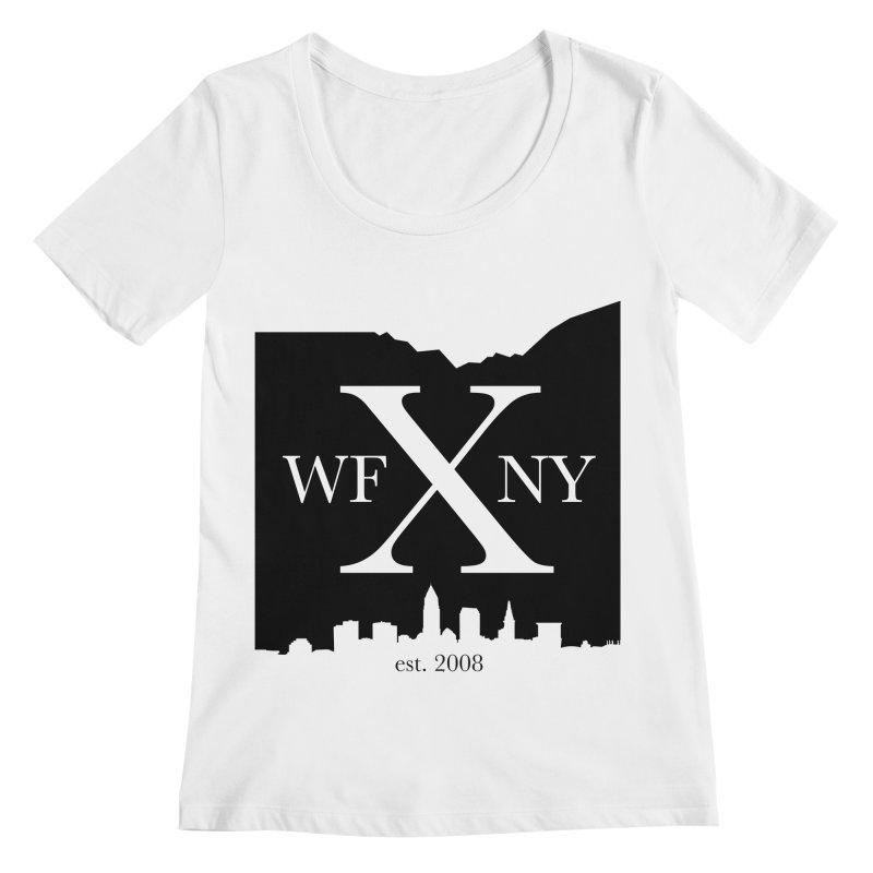 WFNYX Cleveland Skyline Women's Regular Scoop Neck by WFNY - WaitingForNextYear