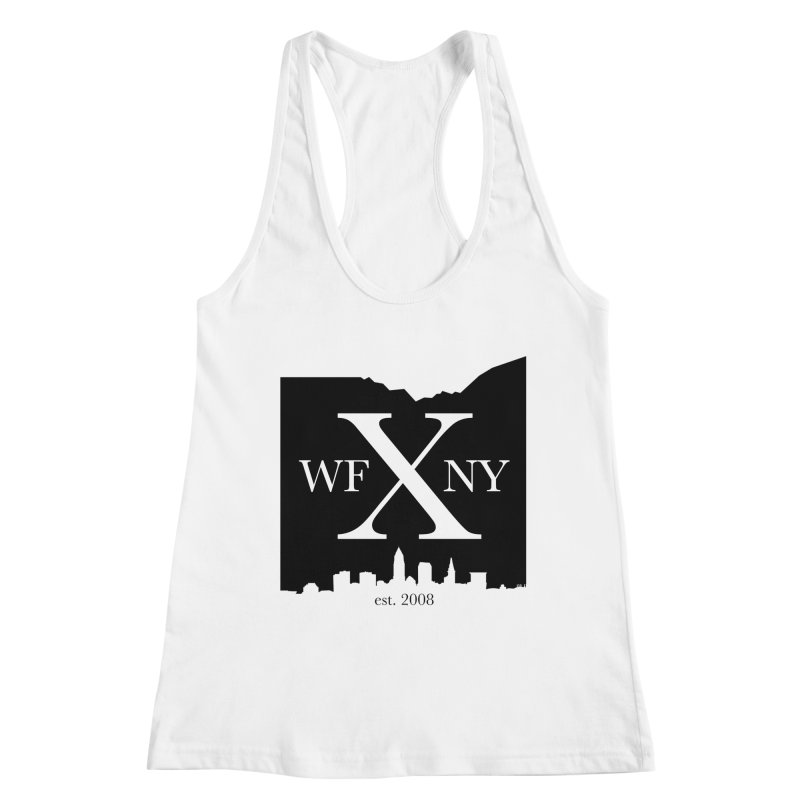 WFNYX Cleveland Skyline Women's Racerback Tank by WFNY - WaitingForNextYear