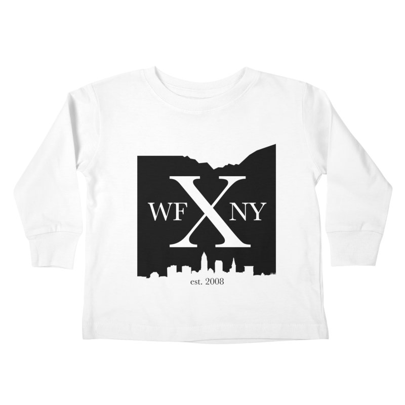 WFNYX Cleveland Skyline Kids Toddler Longsleeve T-Shirt by WFNY - WaitingForNextYear