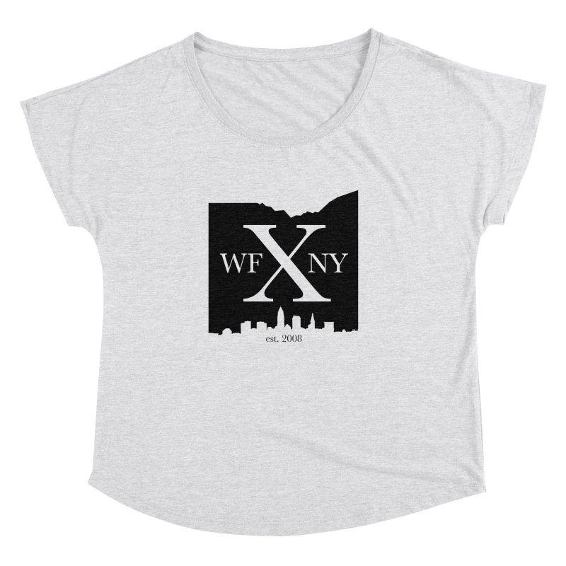 WFNYX Cleveland Skyline Women's Dolman Scoop Neck by WFNY - WaitingForNextYear