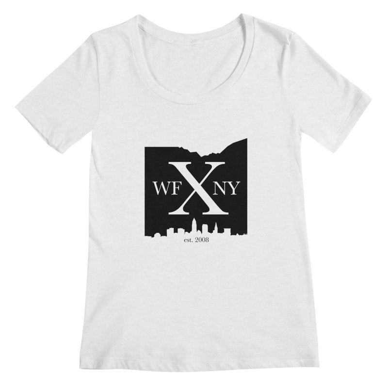 WFNYX Cleveland Skyline Women's Regular Scoop Neck by WFNY - WaitingForNextYear