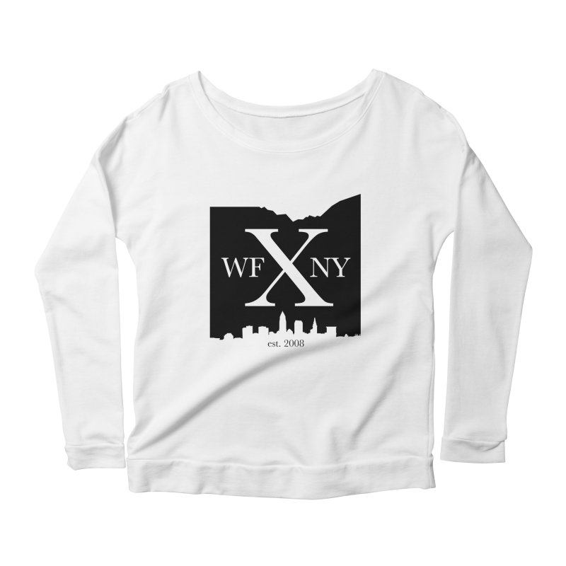 WFNYX Cleveland Skyline Women's Scoop Neck Longsleeve T-Shirt by WFNY - WaitingForNextYear