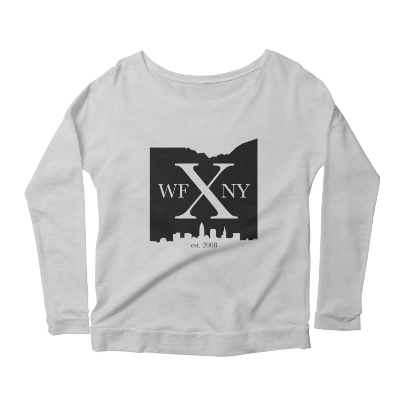 WFNYX Cleveland Skyline Women's Scoop Neck Longsleeve T-Shirt by WFNY - WaitingForNextYear