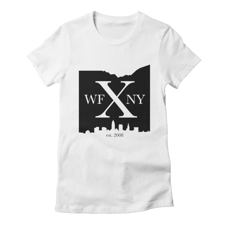 WFNYX Cleveland Skyline Women's Fitted T-Shirt by WFNY - WaitingForNextYear