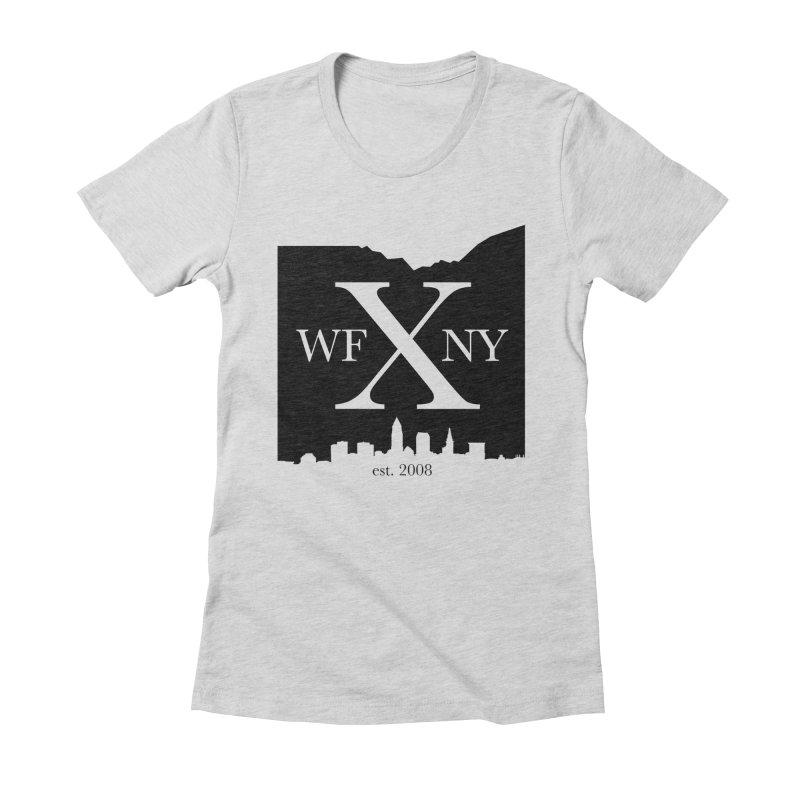 WFNYX Cleveland Skyline Women's Fitted T-Shirt by WFNY - WaitingForNextYear