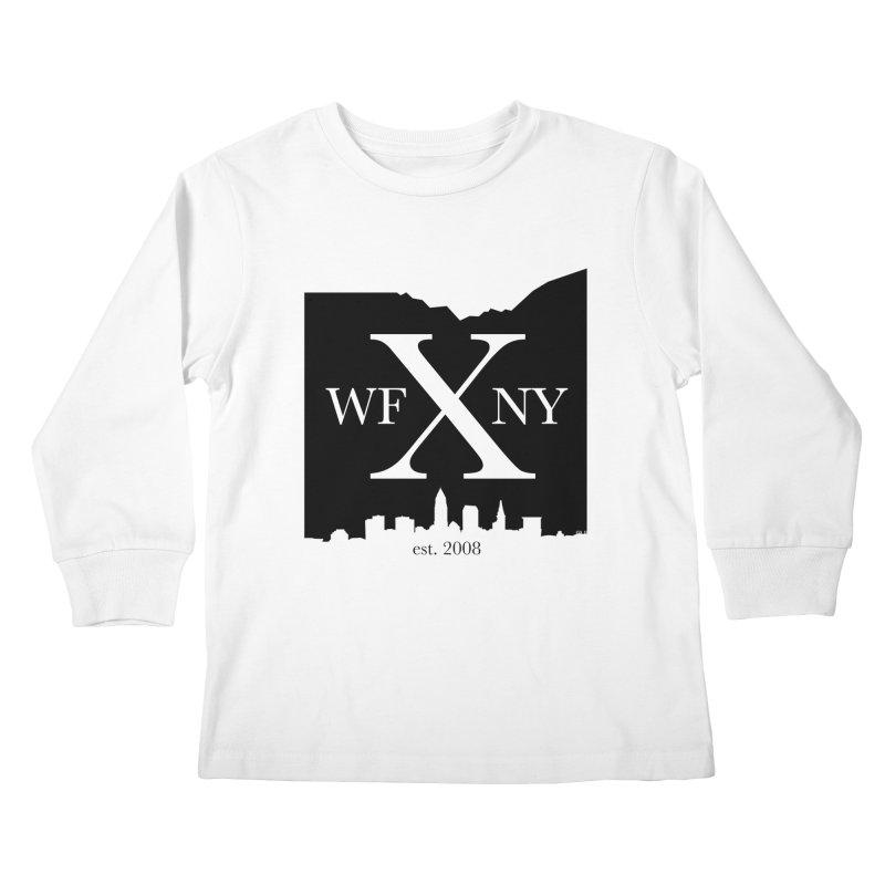 WFNYX Cleveland Skyline Kids Longsleeve T-Shirt by WFNY - WaitingForNextYear