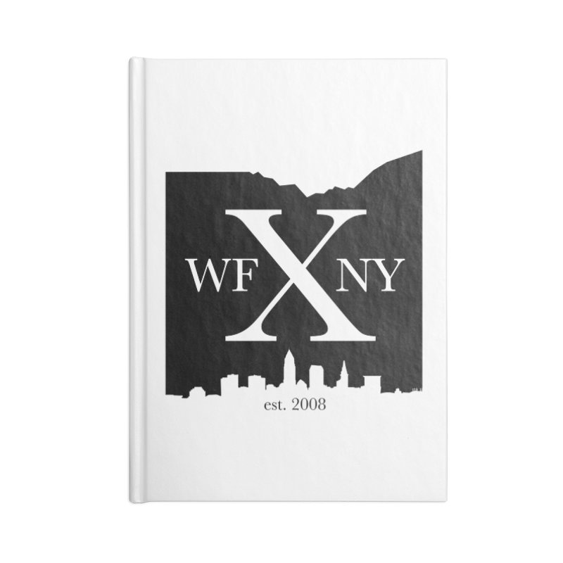 WFNYX Cleveland Skyline Accessories Blank Journal Notebook by WFNY - WaitingForNextYear