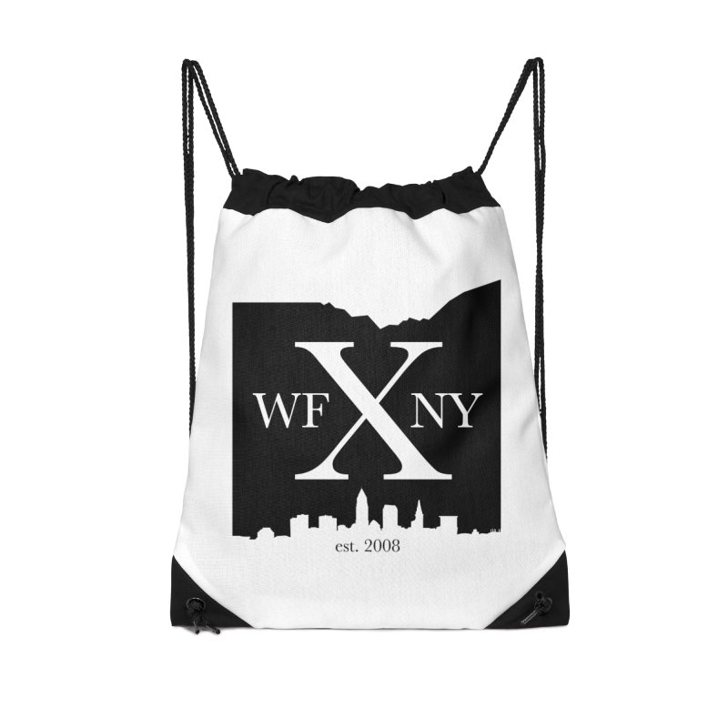 WFNYX Cleveland Skyline Accessories Drawstring Bag Bag by WFNY - WaitingForNextYear