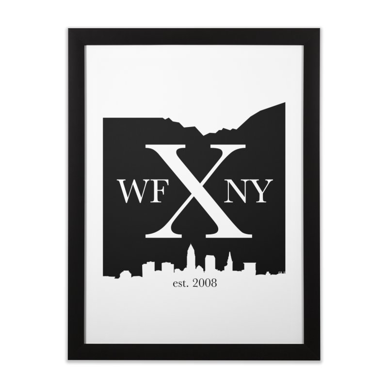 WFNYX Cleveland Skyline Home Framed Fine Art Print by WFNY - WaitingForNextYear