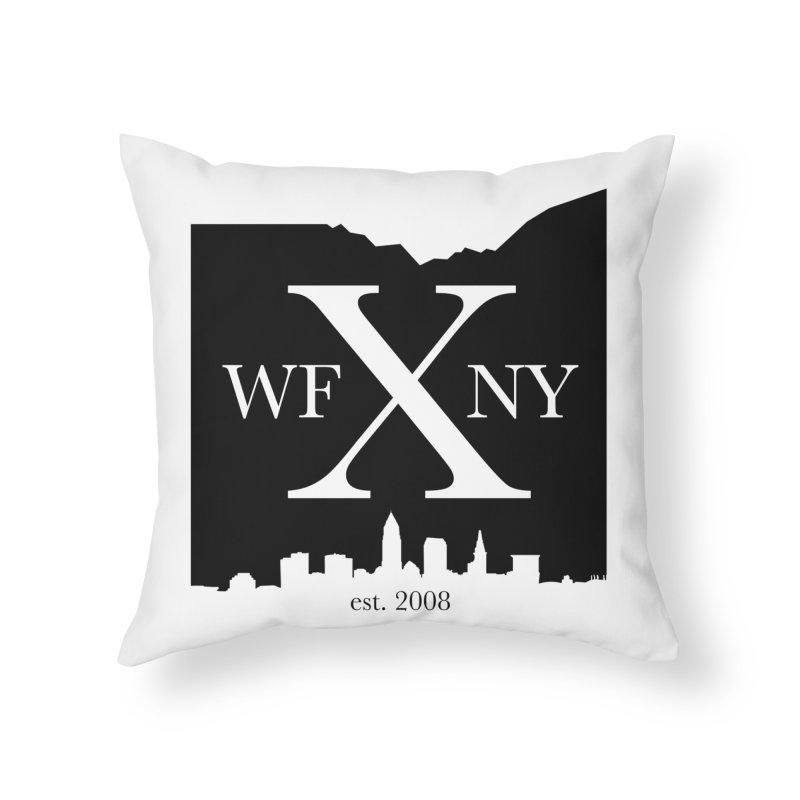 WFNYX Cleveland Skyline Home Throw Pillow by WFNY - WaitingForNextYear