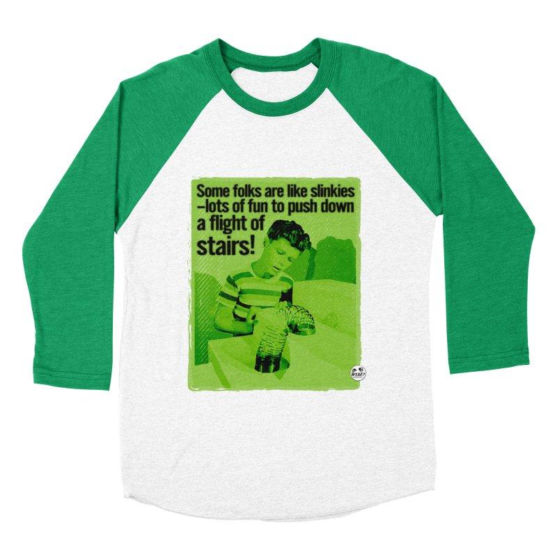 Slinkies Men's Baseball Triblend Longsleeve T-Shirt by WTAFGear's Artist Shop