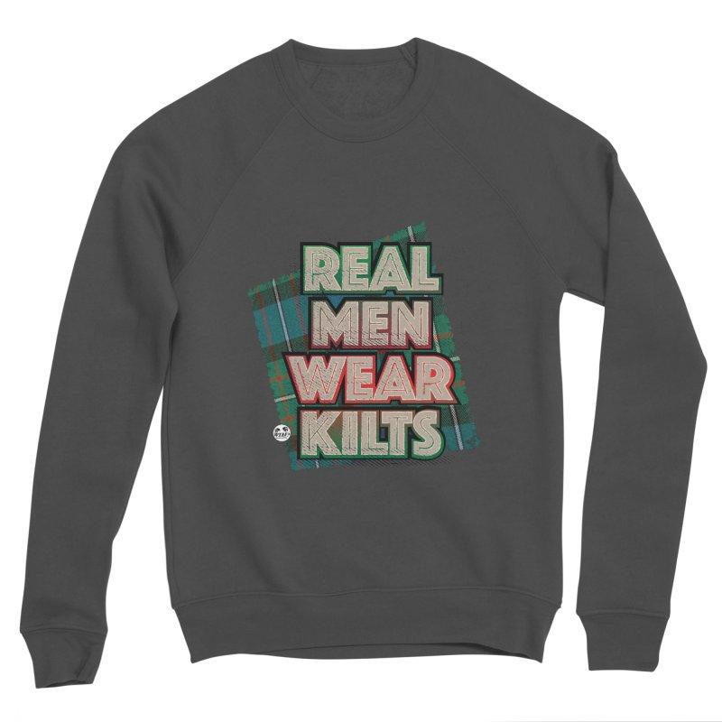 Real men wear kilts Women's Sponge Fleece Sweatshirt by WTAFGear's Artist Shop