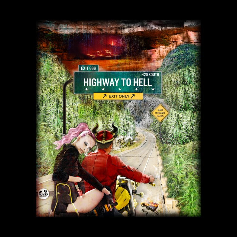 Highway to HELL Men's V-Neck by WTAFGear's Artist Shop