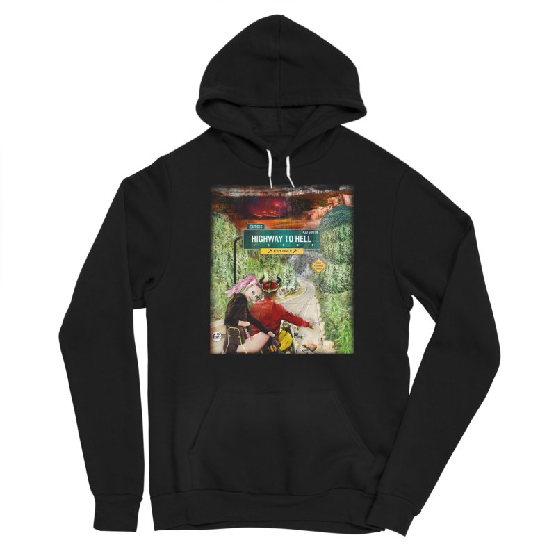 Highway to HELL Men's Pullover Hoody by WTAFGear's Artist Shop