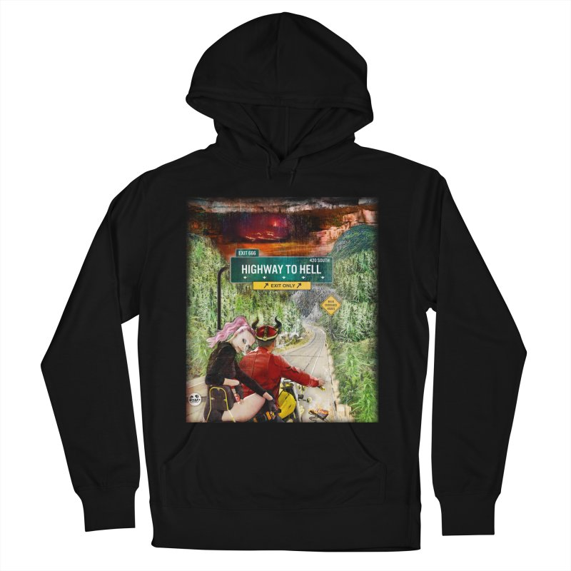 Highway to HELL Men's French Terry Pullover Hoody by WTAFGear's Artist Shop