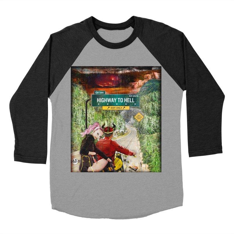Highway to HELL Men's Baseball Triblend Longsleeve T-Shirt by WTAFGear's Artist Shop