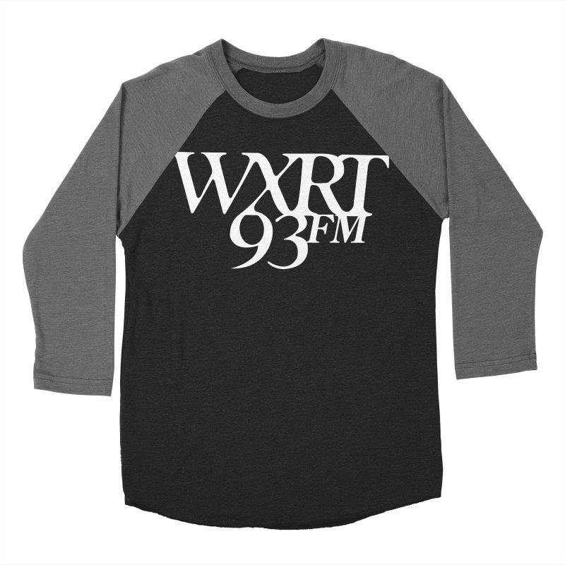 93FM Men's Baseball Triblend Longsleeve T-Shirt by WXRT's Artist Shop