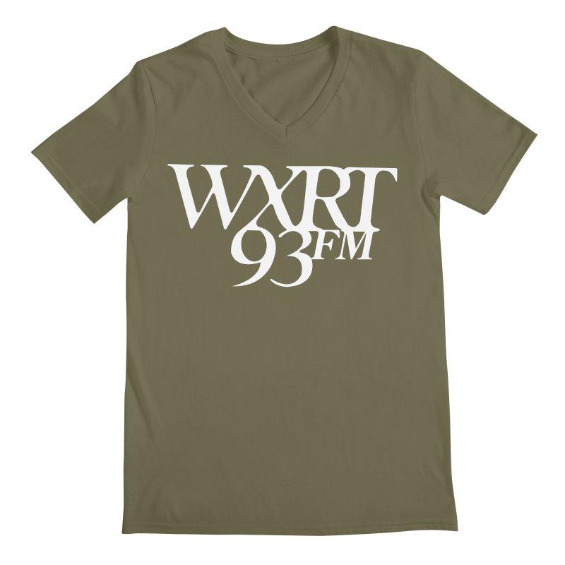 93FM Men's Regular V-Neck by WXRT's Artist Shop