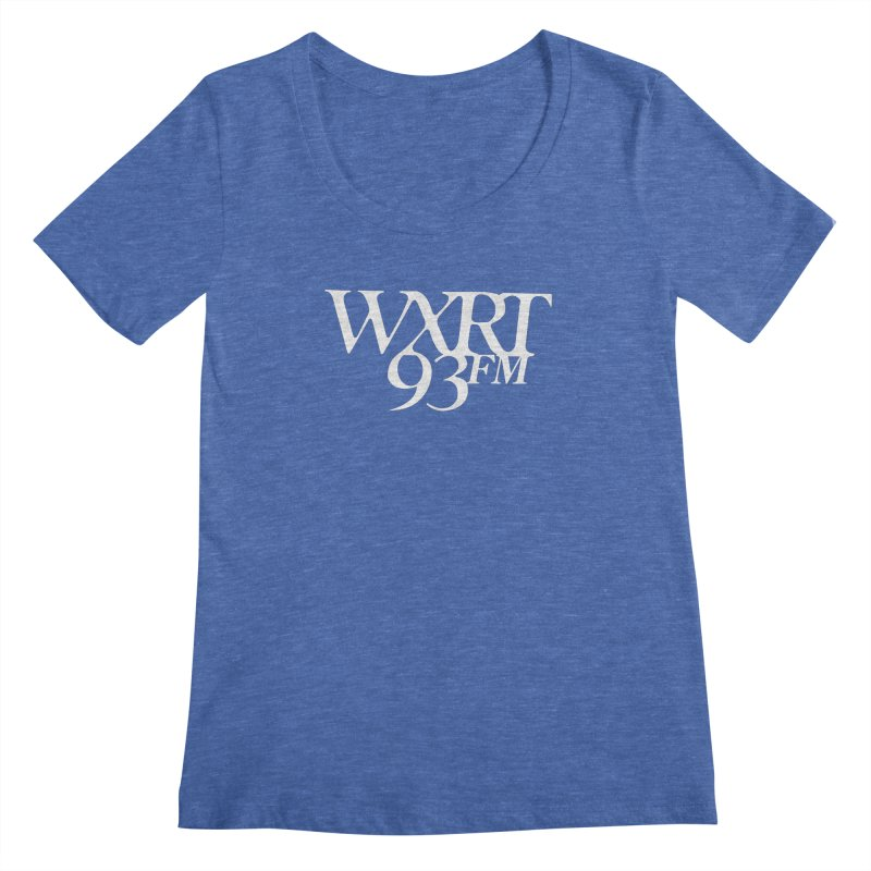 93FM Women's Regular Scoop Neck by WXRT's Artist Shop