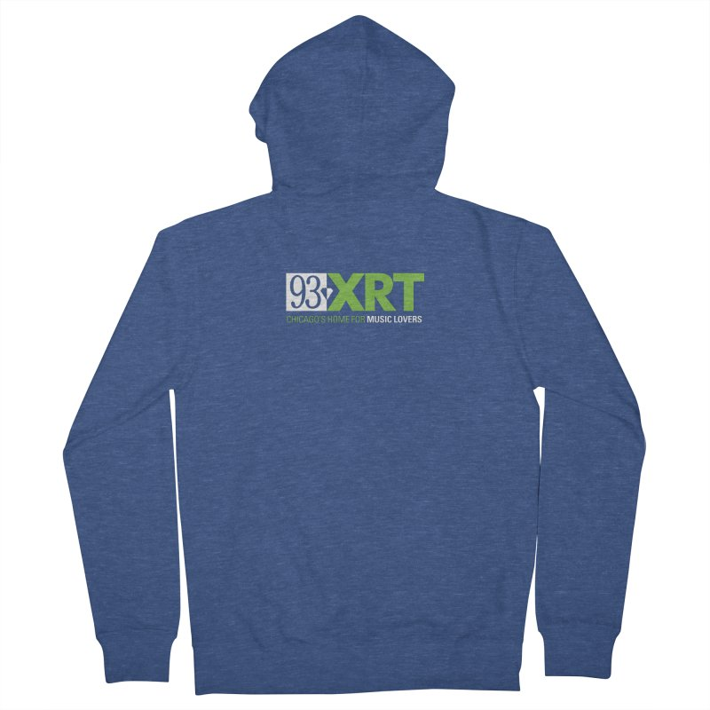 Chicago's Home for Music Lovers Men's French Terry Zip-Up Hoody by WXRT's Artist Shop
