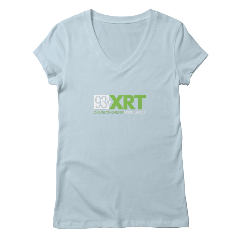 Chicago's Home for Music Lovers Women's V-Neck by 93XRT