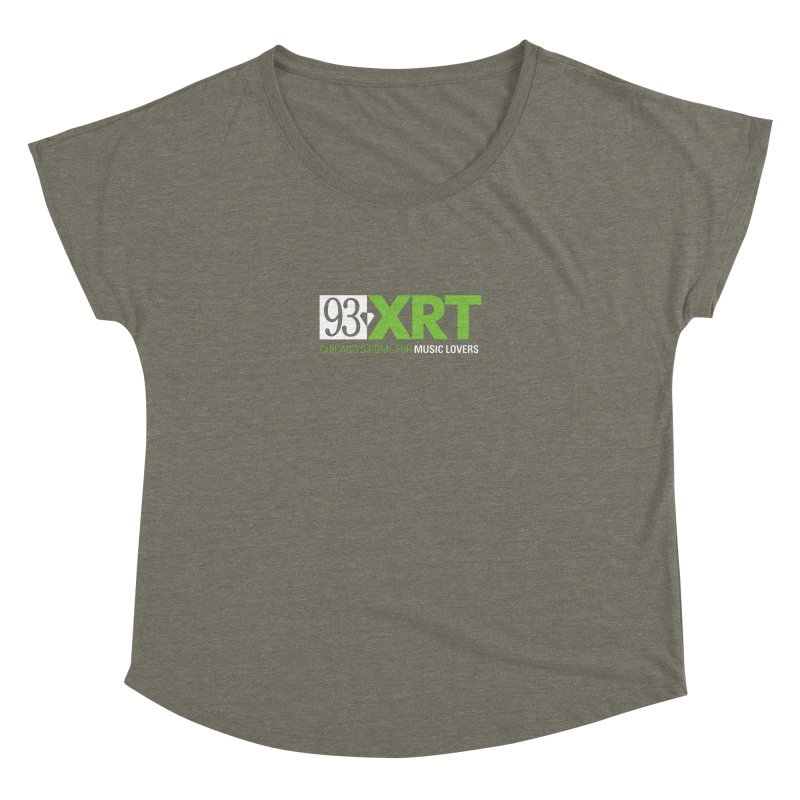 Chicago's Home for Music Lovers Women's Dolman Scoop Neck by 93XRT