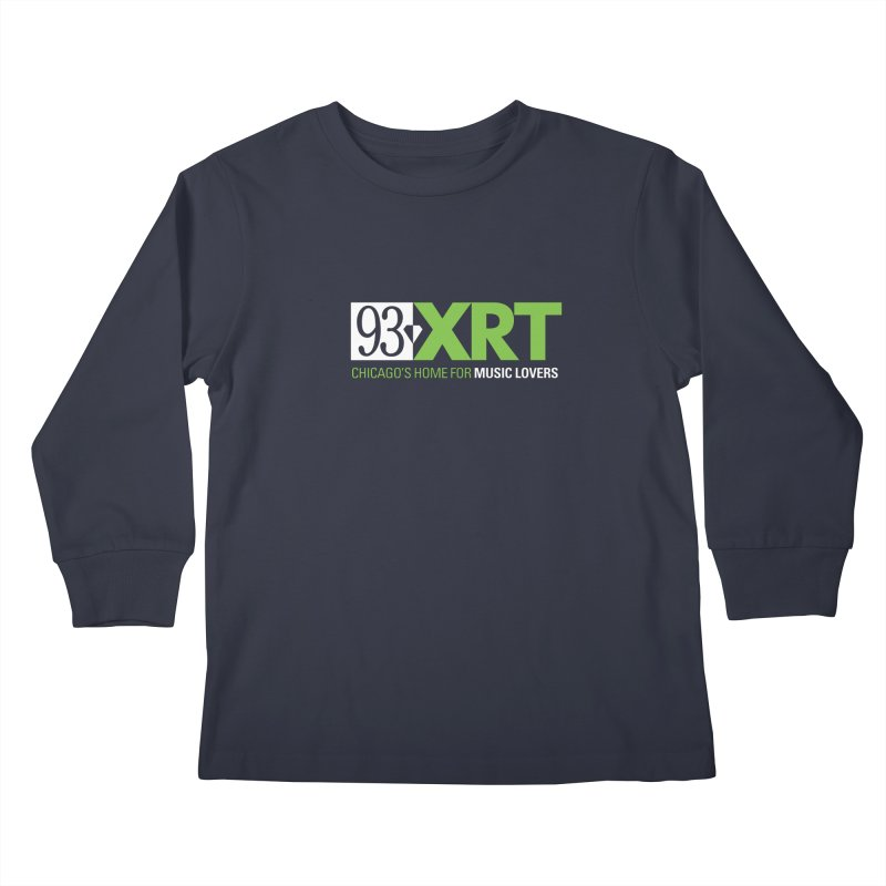 Chicago's Home for Music Lovers Kids Longsleeve T-Shirt by 93XRT