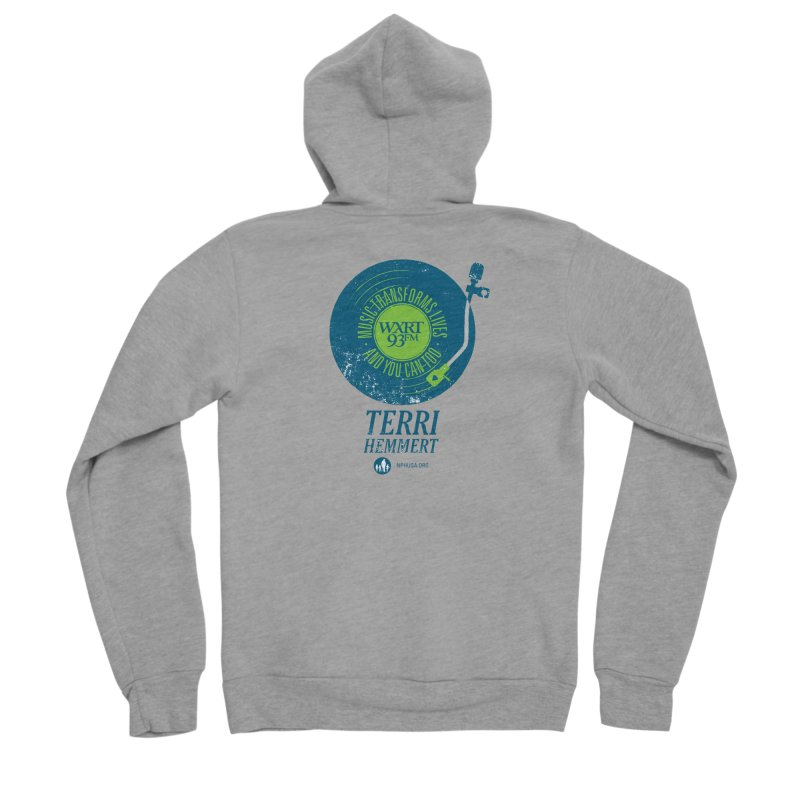 Music Transforms Lives Women's Sponge Fleece Zip-Up Hoody by 93XRT