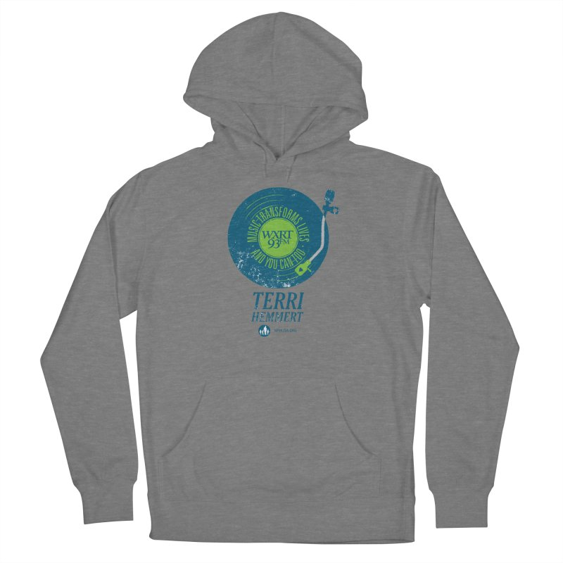 Music Transforms Lives Men's French Terry Pullover Hoody by 93XRT
