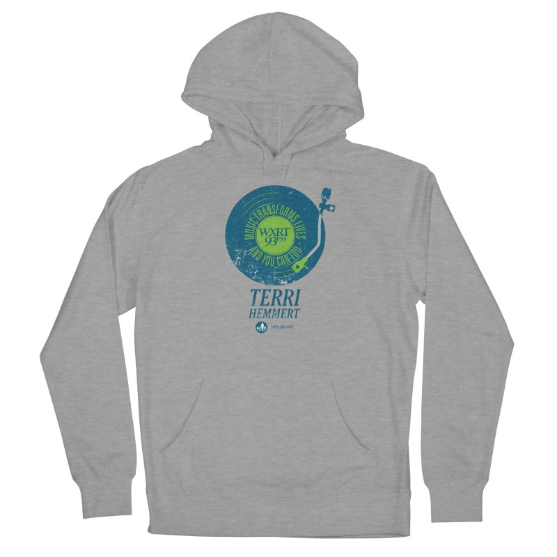 Music Transforms Lives Men's French Terry Pullover Hoody by WXRT's Artist Shop